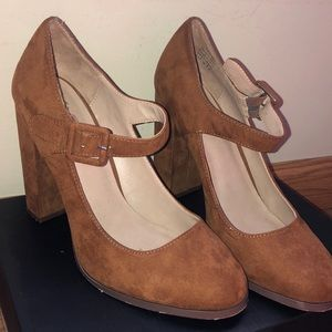 Brown Heeled Mary Janes